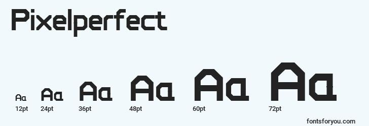sizes of pixelperfect font, pixelperfect sizes