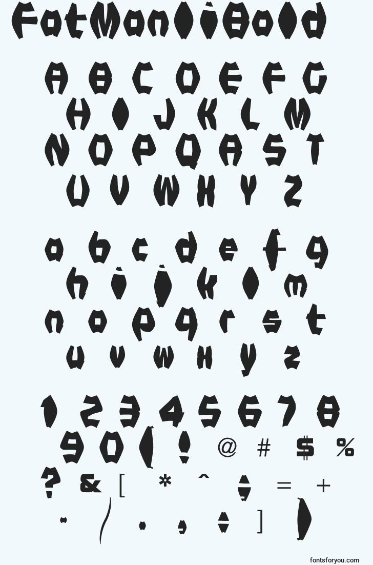 characters of fatmaniibold font, letter of fatmaniibold font, alphabet of  fatmaniibold font