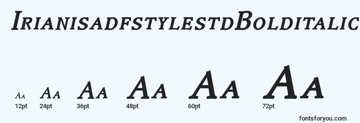 sizes of irianisadfstylestdbolditalic font, irianisadfstylestdbolditalic sizes