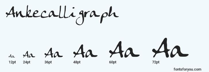 sizes of ankecalligraph font, ankecalligraph sizes