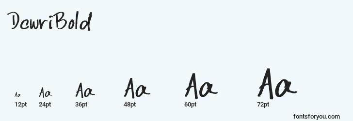 sizes of dcwribold font, dcwribold sizes