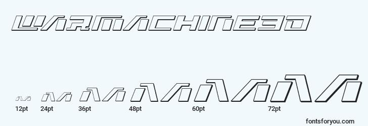 sizes of warmachine3d font, warmachine3d sizes