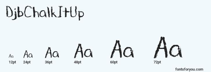 sizes of djbchalkitup font, djbchalkitup sizes