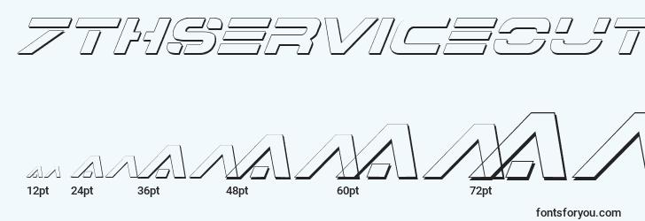 sizes of 7thserviceoutlineitalic font, 7thserviceoutlineitalic sizes