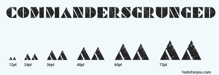 sizes of commandersgrunged font, commandersgrunged sizes