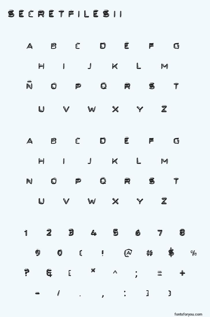 characters of secretfilesii font, letter of secretfilesii font, alphabet of  secretfilesii font