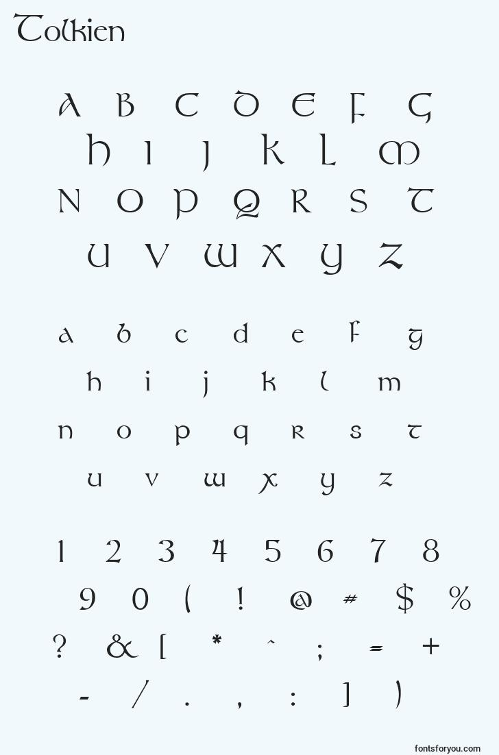 characters of tolkien font, letter of tolkien font, alphabet of  tolkien font