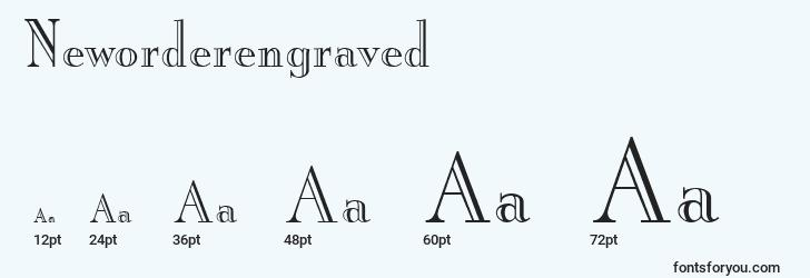 sizes of neworderengraved font, neworderengraved sizes