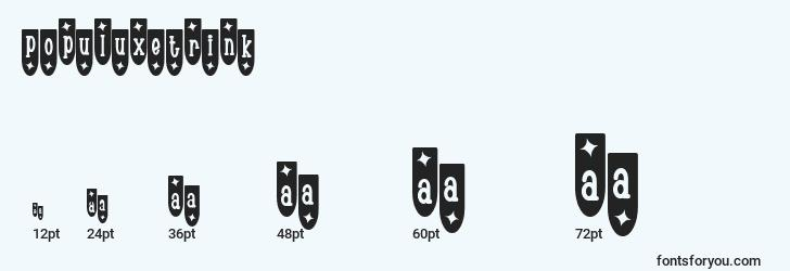 sizes of populuxetrink font, populuxetrink sizes