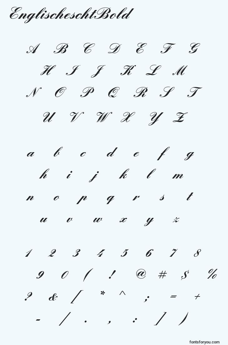 characters of englischeschtbold font, letter of englischeschtbold font, alphabet of  englischeschtbold font