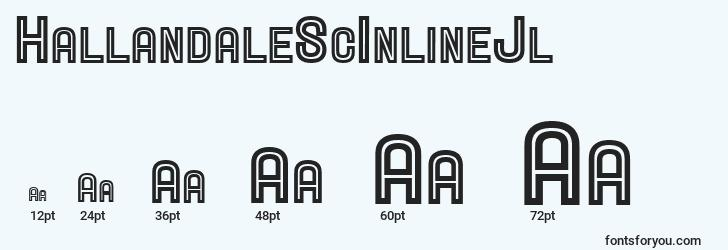 sizes of hallandalescinlinejl font, hallandalescinlinejl sizes