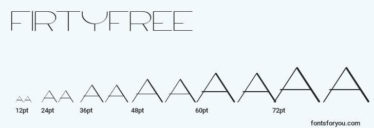 sizes of firtyfree font, firtyfree sizes