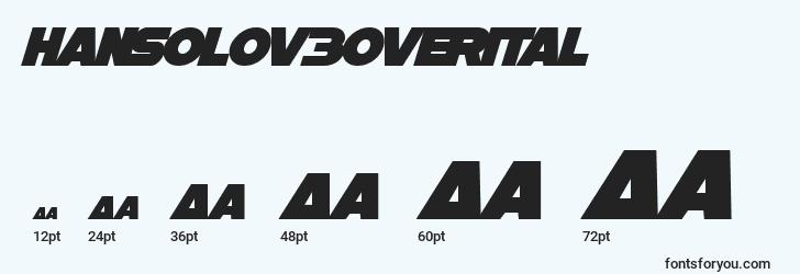 sizes of hansolov3overital font, hansolov3overital sizes