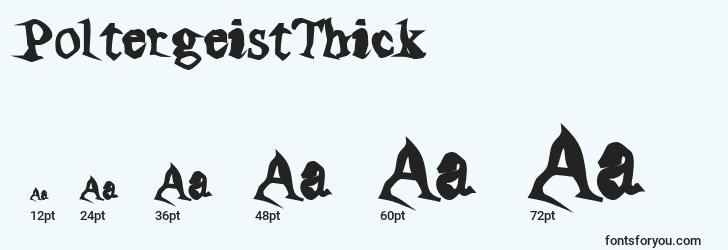 sizes of poltergeistthick font, poltergeistthick sizes