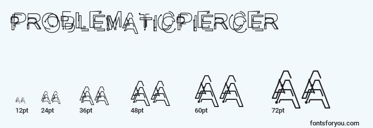 sizes of problematicpiercer font, problematicpiercer sizes