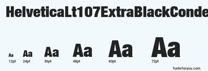 sizes of helveticalt107extrablackcondensed font, helveticalt107extrablackcondensed sizes