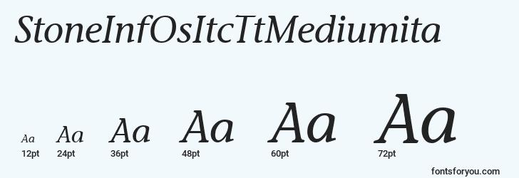 sizes of stoneinfositcttmediumita font, stoneinfositcttmediumita sizes