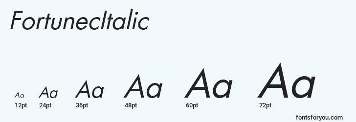 sizes of fortunecitalic font, fortunecitalic sizes