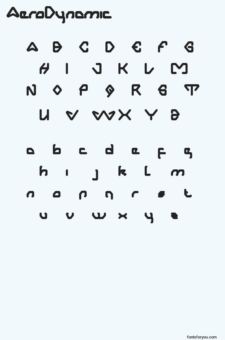 characters of aerodynamic font, letter of aerodynamic font, alphabet of  aerodynamic font