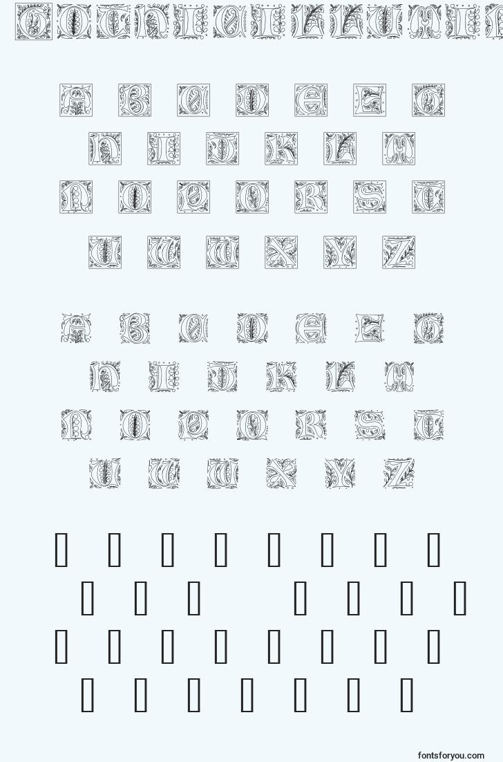 characters of gothicilluminate font, letter of gothicilluminate font, alphabet of  gothicilluminate font