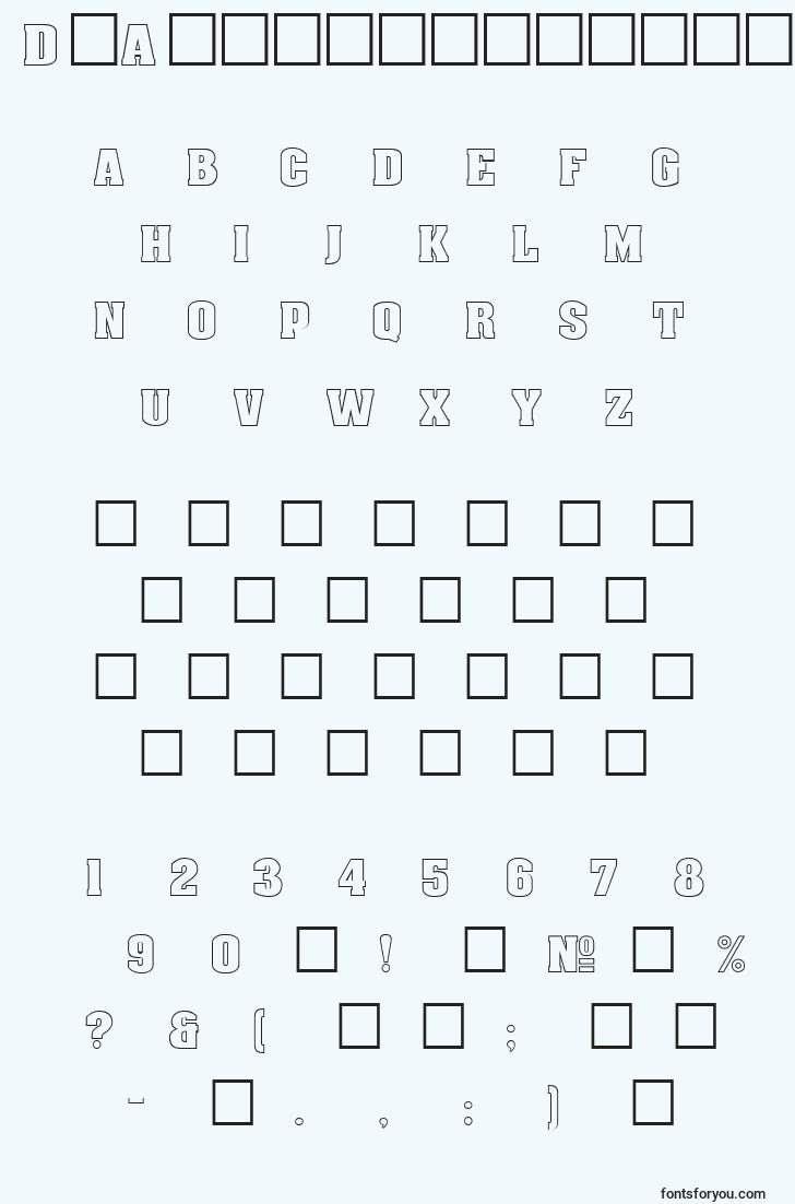 characters of dgaachenoutlinenormal font, letter of dgaachenoutlinenormal font, alphabet of  dgaachenoutlinenormal font