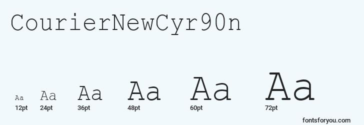 sizes of couriernewcyr90n font, couriernewcyr90n sizes