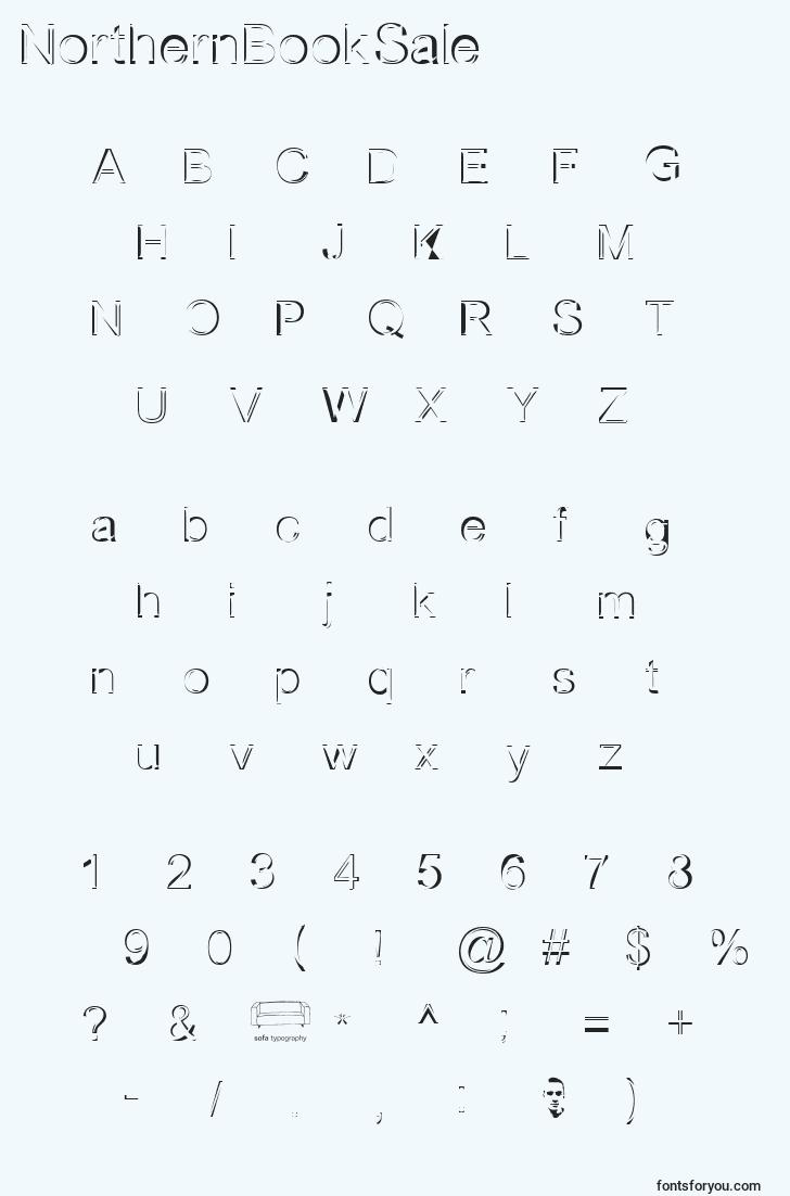characters of northernbooksale font, letter of northernbooksale font, alphabet of  northernbooksale font