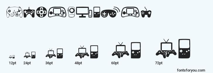 sizes of videogames font, videogames sizes
