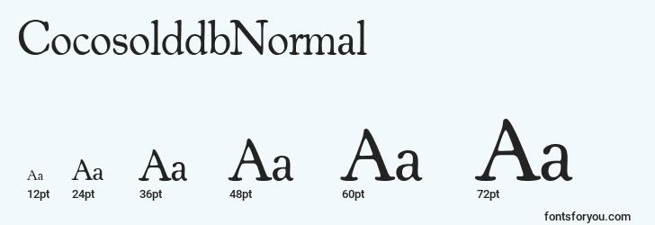sizes of cocosolddbnormal font, cocosolddbnormal sizes
