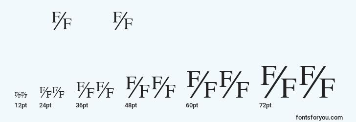 sizes of timefractionregular font, timefractionregular sizes