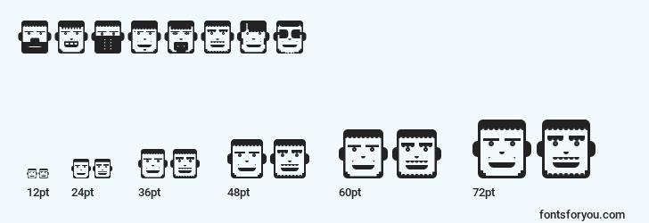 sizes of polyface font, polyface sizes