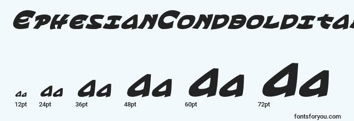 sizes of ephesiancondboldital font, ephesiancondboldital sizes