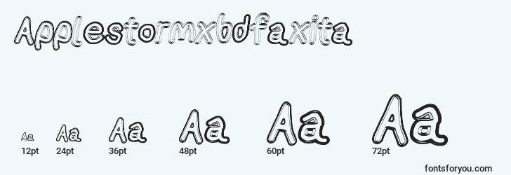 sizes of applestormxbdfaxita font, applestormxbdfaxita sizes