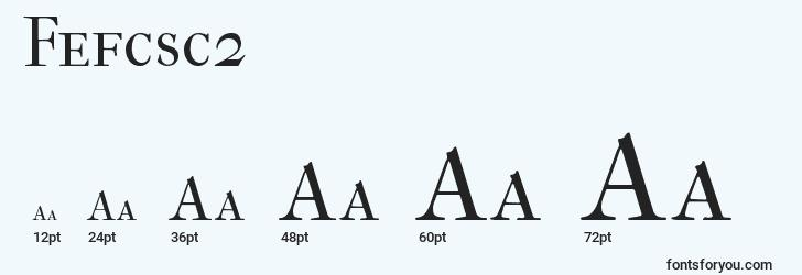 sizes of fefcsc2 font, fefcsc2 sizes