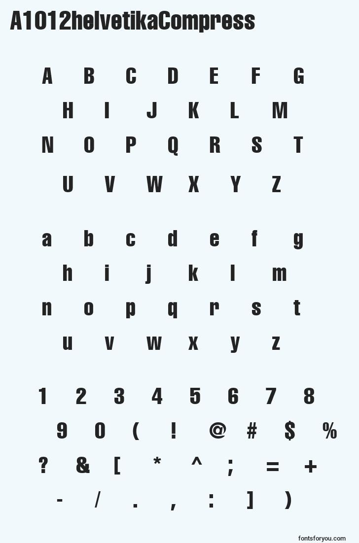 characters of a1012helvetikacompress font, letter of a1012helvetikacompress font, alphabet of  a1012helvetikacompress font