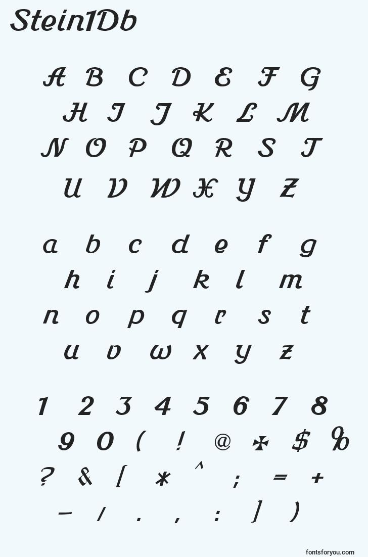 characters of stein1db font, letter of stein1db font, alphabet of  stein1db font