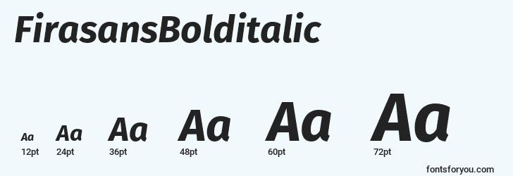 sizes of firasansbolditalic font, firasansbolditalic sizes