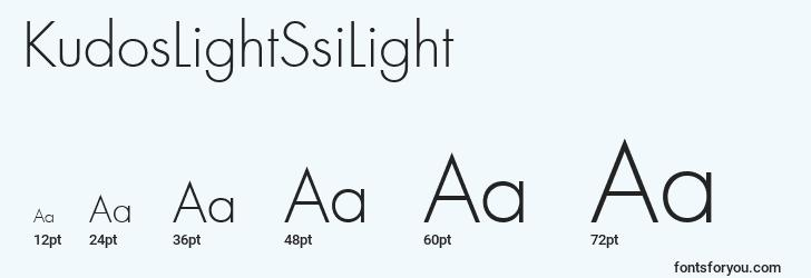 sizes of kudoslightssilight font, kudoslightssilight sizes