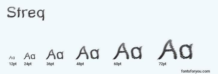 sizes of streq font, streq sizes
