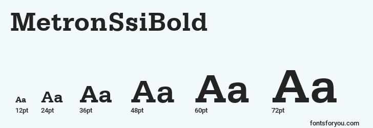 sizes of metronssibold font, metronssibold sizes