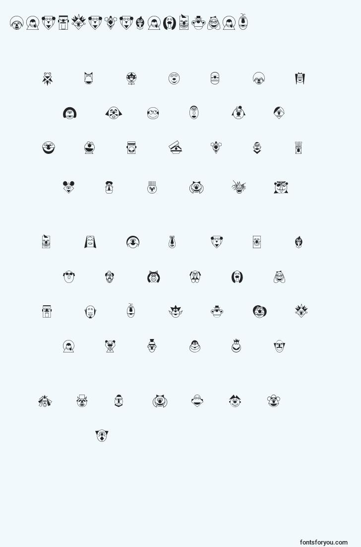characters of fuenteregularmup font, letter of fuenteregularmup font, alphabet of  fuenteregularmup font