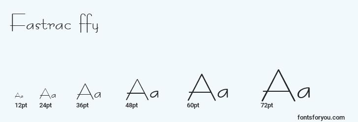 sizes of fastrac ffy font, fastrac ffy sizes