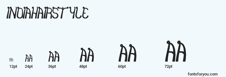 sizes of indiahairstyle font, indiahairstyle sizes