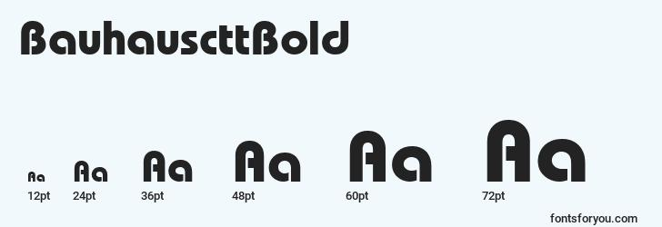 sizes of bauhauscttbold font, bauhauscttbold sizes