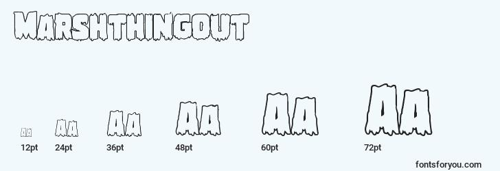 sizes of marshthingout font, marshthingout sizes