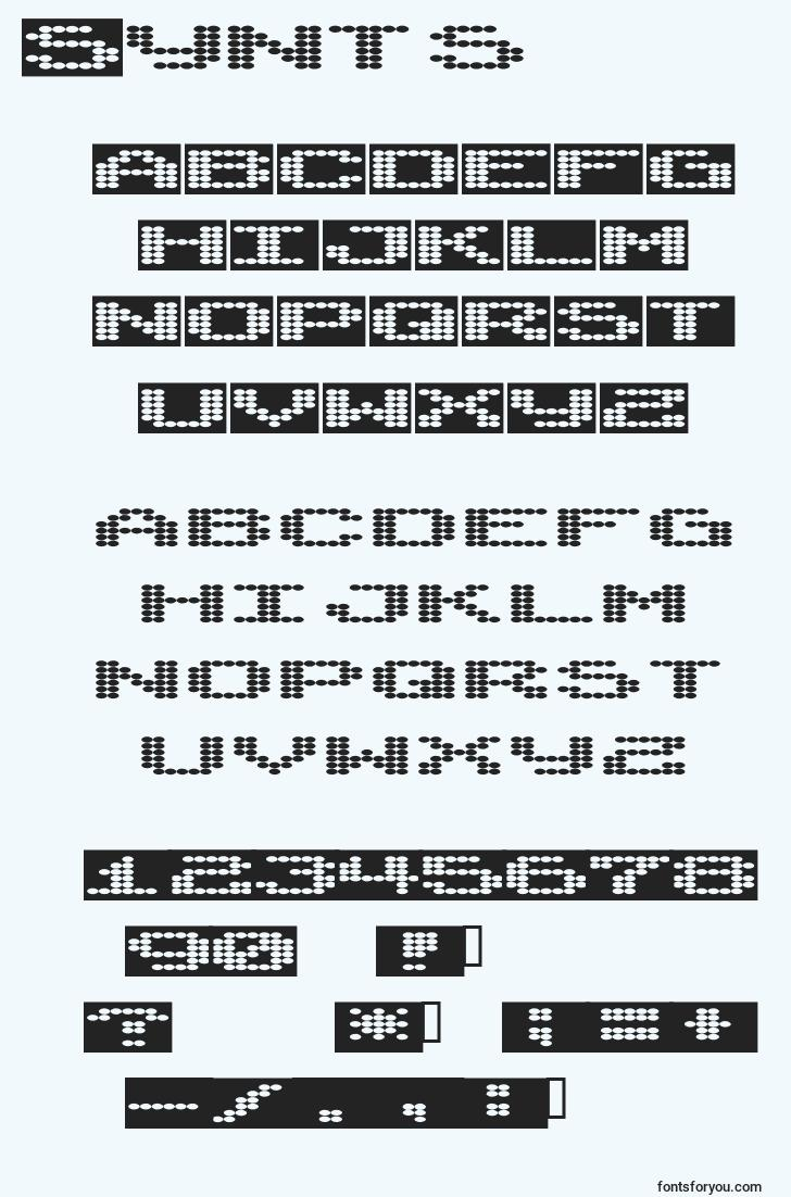 characters of synts font, letter of synts font, alphabet of  synts font