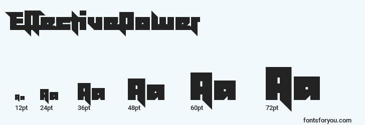 sizes of effectivepower font, effectivepower sizes