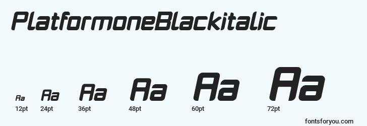 sizes of platformoneblackitalic font, platformoneblackitalic sizes