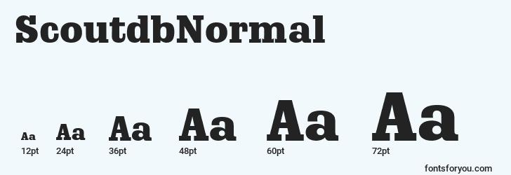 sizes of scoutdbnormal font, scoutdbnormal sizes