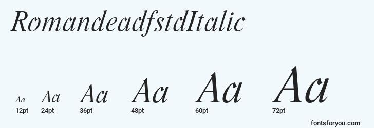 sizes of romandeadfstditalic font, romandeadfstditalic sizes